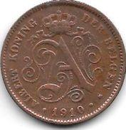 Belguim 2 Centimes 1910 Dutch    Vf+ - 1909-1934: Albert I
