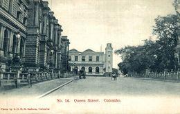 ASIE Asia - SRI LANKA ( Ceylon Ex CEYLAN ) QUEEN STREET COLOMBO - Sri Lanka (Ceilán)