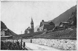 """07111 """"GOESCHENEN - CANTON URI - SVIZZERA - CIRCA 1900"""" ANIMATA. CHIESA. FOTOGRAFIA ORIGINALE. - Lieux"""