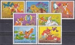 Ungarn Hungary 1982 Kunst Kultur Film Zeichentrick Vuk Der Kleine Fuchs Fox Hunde Dogs Vögel Birds Kinder, Mi. 3580-6 ** - Hongrie