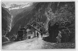 "07112 ""GOESCHENEN - CANTON URI - SVIZZERA - CIRCA 1900"" ANIMATA. CARROZZA GRAND HTL ANDERMATT. FOTOGRAFIA ORIGINALE. - Lieux"