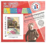 Bloc Du 90e Congrès Philatélique De CHOLET 2017 édité Par FFAP - Thème Mouchoirs - FFAP