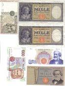 1000 Lire Italia Testina 1947 Bb+ + 1949 Bb+ + 25 07 1964 R2 Bb+ + 05 08 1975 Fds + 1984 C Fds + 1994 LOTTO 982 - [ 2] 1946-… : République