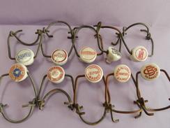 Collection De 10 Bouchons De Biere Ancien La Chapelle,morteau,belfort Etc - Alcools