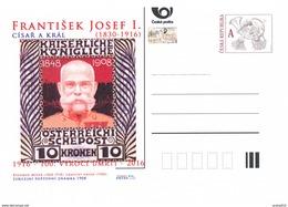 Tschech. Rep. / Ganzsachen (Pre2016/52) Jahr Des Kaisers Und König Franz Joseph I. (1830-1916) - Jubiläum Briefmarke - Postwaardestukken