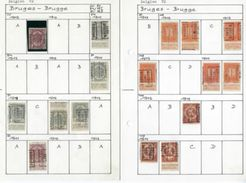 Lot BRUGES / BRUGGE Met RIJKSWAPEN / PELLENS / ALBERT I / HOUYOUX En HERALDIEKE LEEUW ; Staat Zie 4 Scans ! LOT 204 - Rollini 1920-29