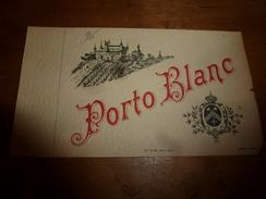 1920 ? Spécimen étiquette De Vin PORTO Blanc ,n° 492 ,déposé, Imp. G.Jouneau  3 Rue Papin à Paris - Castles