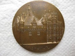 Médaille Bronze Ville De SAUMUR,  Jean Paul HUGOT Sénateur Maire - France