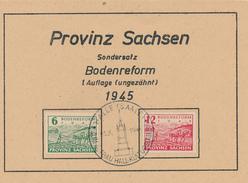 HALLE - 1946 , Bodenreform , 1. Auflage - Zone Soviétique