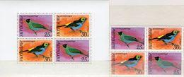 Singvögel 1977 Surinam 764/5+Block 18 ** 11€ Vogelwelt Naschvogel Vogel Tangare Hoja Blocs Fauna M/s Sheet Bf Birds - Surinam