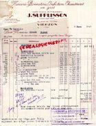 18 - VIERZON - FACTURE J. SUPPLISSON- FABRIQUE BONNETERIE-MERCERIE CHAUSSURES- 26 RUE DE TOURS-1949 - France