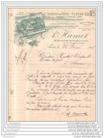 75 7417 PARIS 1908 Carton Pate Et  Cuir A.te HAMET Billet De Chemin De Fer Omnibus Et  Tramway Usine AUBERVI - Unclassified