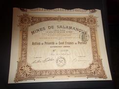 MINES DE SALAMANQUE (1908) - Hist. Wertpapiere - Nonvaleurs