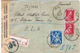 "WO 2: RECO BRIEF Met 3 PZ (B) ""HINGENE 16.III.1945"" N. BELGIAN PIONEER Coy/B.L.A., Censuurband ""CONTROLE/TOEZICHT"" + 104 - Guerre 40-45"