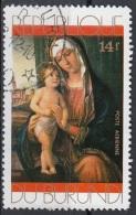 "Burundi 1971 Sc. C153 ""Madonna Col Bambino..."" Quadro Dipinto Cima Da Conegliano Paintings CTO Tableaux  Christmas - Burundi"