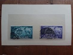 SOMALIA AFIS - Espressi Nn. 1/2 Timbrati + Spese Postali - Somalia (AFIS)