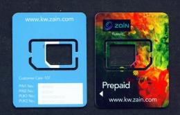 KUWAIT  -  Zain SIM Frame Phonecard - Kuwait