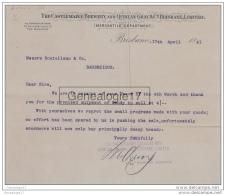 96 1123W AUSTRALIE AUSTRALIA BRISBANE Queensland 1891 THE CASTEMAINE BREWERY & QUINLAN GRAY & BRISBANE LIMITED - Australia