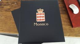 LOT 381737 ALBUM DAVO ET ETUI LUXE MONACO VIDE POUR TIMBRE DE 1994 A 2004 PORT A 10 EUROS - Stamps