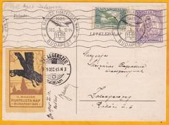 1925 - CP Illustrée De Budapest, Hongrie Vers Zalaegerszeg - Vignette II. Magyar Filatelista Nap - Cartas