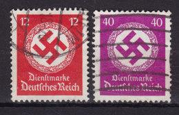Germany Deutsches Reich 1934/38 Mi. 138, 142 Dienstmarken Hakenkreutz Im Eichenkranz - Officials