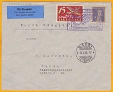 1926 - Enveloppe Par Avion De La Chaux De Fonds Vers Bâle - 1er Vol - Oblitération Spéciale - Poste Aérienne
