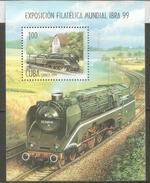 Locomotive à Vapeur Ancienne Allemande. Bloc-feuillet Neuf **,  Année 1999 - Trains