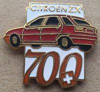 VOITURES CITROËN ZX ROUGE  SPECIAL 700ème ANNIVERSAIRE DE LA SUISSE - PLAQUE ROUGE ET PLAQUE NOIRE -                (19) - Citroën