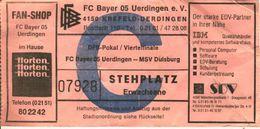 Eintrittskarte FC Bayer 05 Uerdingen - MSV Duisburg DFB-Pokal Viertelfinale 1990/91 - Match Tickets