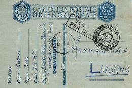 MARINA MILITARE WWII FRANCHIGIA CENTRO RADIO MONTEROTONDO 1942 X LIVORNO - 1900-44 Vittorio Emanuele III