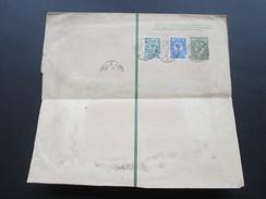 Russland 1912 Streifband Mit 2 Zusatzfrankaturen! Interessante Verwendung! Mit Papiersiegel / Vignette. Doppeladler - Covers & Documents