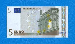 5  EURO - ALEMAGNE - Serie   X 21067431365  -   Codice Breve  R 001 B 6  - Firma  TRICHET. - 5 Euro