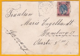 1904 - Enveloppe De Semarang, Java, Indes Néerlandaises Vers Hamburg, Allemagne Via Weltevreden - Nederlands-Indië