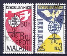 Tchécoslovaquie 1962 Mi 1348-9 (Yv 1223-4), Obliteré - Gebraucht