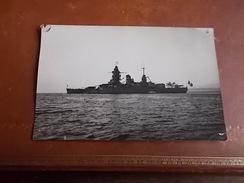 Croiseur Dunkerque 59 Rattache A Brest 29 REAL PHOTO 1/01/1940 SERVICE PHOTOGRAPHIQUE DE L ESCADRE DE L ATLANTIQUE - Guerre