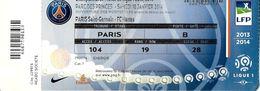 POUR COLLECTIONNEUR BILLET MATCH FOOTBALL  CHAMPIONNAT DE FRANCE 2013/2014 PARIS SAINT GERMAIN NANTES 18/1/14 - Tickets - Vouchers