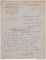 13 3306 PORT SAINT LOUIS BOUCHES DU RHONE 1950 Papeterie MAD. SAULUS Pelllicules Travaux KODAC Parfumerie Avenue D Arles - Imprenta & Papelería