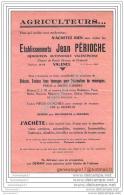 26 1326 VALENCE SUR RHONE DROME 19.. Demolition Automobile JEAN PERIOCHE Chemin De Ronde ( Ave De Chabeuil ) - Publicités