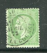 Très Beau Y&T N°35- Cachet à Date De PARIS Du 2 Avril 1872 - 1862 Napoleone III