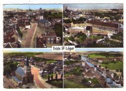 """GF (59) 287, Trith Saint Leger, Lapie 101, Multivues, Vue D'ensemble, Groupe Scolaire, L""""""""église, Le Canal - Other Municipalities"""