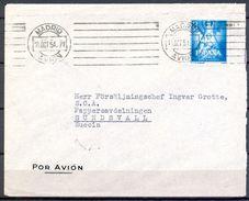 1954 , MADRID - SUNDSVALL , CORREO AÉREO , ED. 1141 , 3 PTS. AÑO MARIANO - 1931-Hoy: 2ª República - ... Juan Carlos I