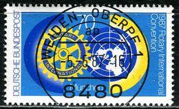 BRD - Michel 1327 - Zentrisch OO Gestempelt (E) - 70Pf   Rotary-Club - Gebraucht