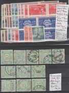 TIMBRE DE ROUMANIE LOT EN PLAQUETTES OBLITEREES /* *  LUXE  Nr VOIR SUR PAPIER AVEC TIMBRES   COTE  57.5€ - Poste Aérienne
