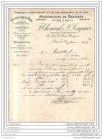 75 7875 PARIS 1922 Fabrique Orfevrerie Et  Bronze F. THOUARD Et  LENGAUER Succ MAISON A. SAUVE 43 Rue Francs - France