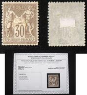 N° 69 30c SAGE Type 1 Neuf N* B/TB Cote 700€ Signé Calves + Certificat - 1876-1878 Sage (Tipo I)