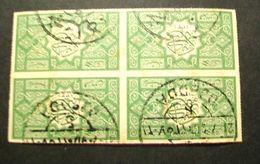 "001- ARABIA SAUDITA 1916 - ""  Serie Royaume Du HEDJAZ . YT. 5  ""  Quartina Timbrata - Arabia Saudita"