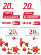 Moldova ,  Moldavie , Prepaid Phonecard - Unite , 20 Lei , Set , Tipe 2+3 , Paper , Used - Moldova