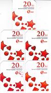 Moldova ,  Moldavie , Prepaid Phonecard - Unite , 20 Lei , Set , Tipe 3 , 5 Differents , Paper , Used - Moldova