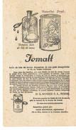 BUVARD Jemalt Huie De Foie De Morue - Produits Pharmaceutiques