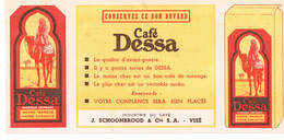 BUVARD Cafe Dessa J Schoonbrood VISE Nombre 2 - Liquor & Beer